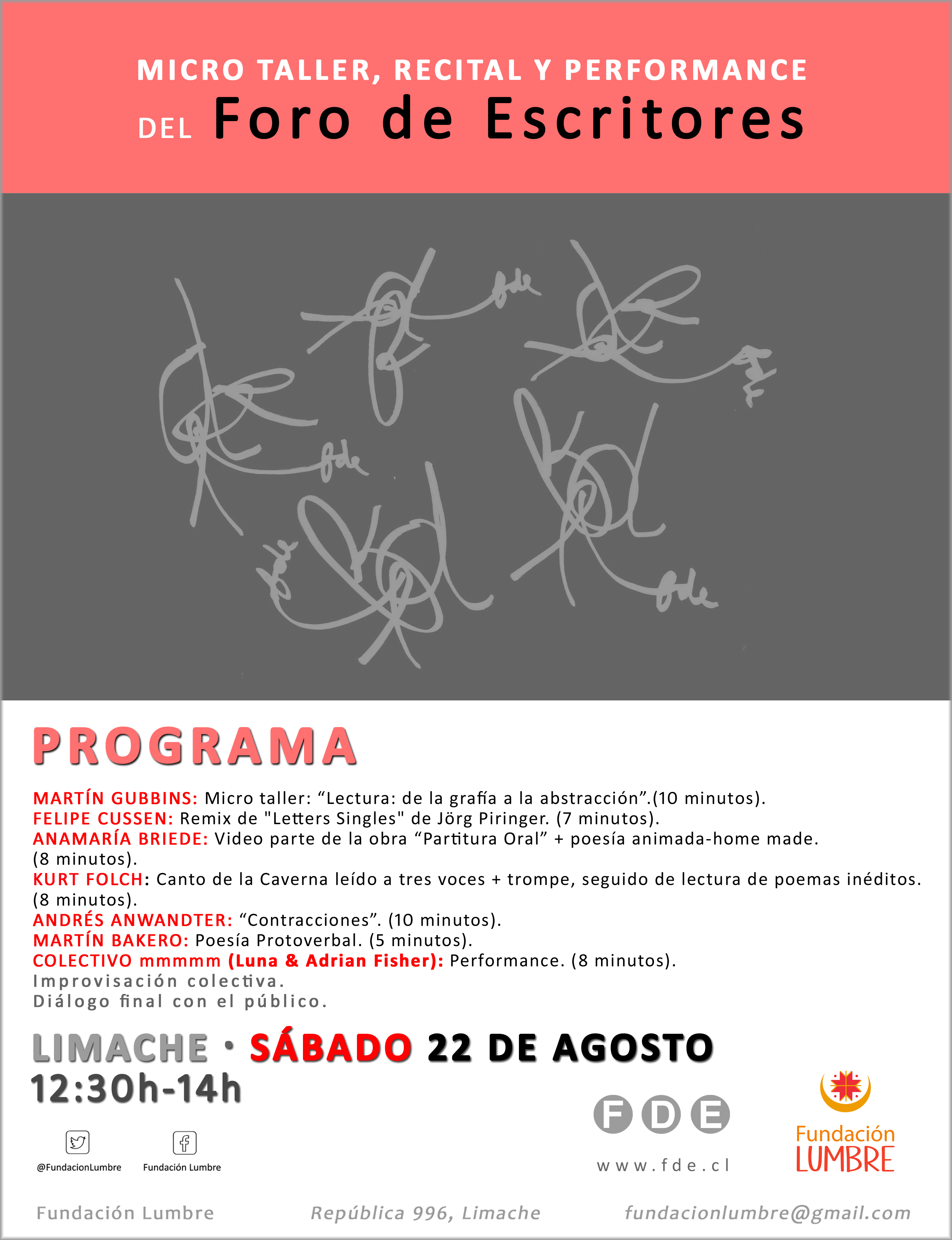 Invitacion recital FDE-FundacionLumbre-Limache-Sab22Ago2015 1230h