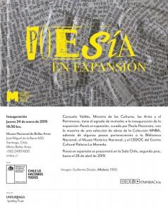 POESIA EN EXPANSION @ Museo Nacional de Bellas Artes